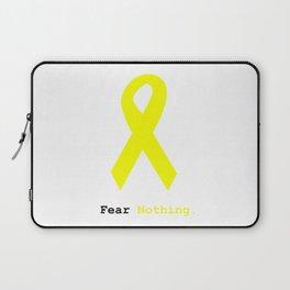 Fear Nothing: Yellow Awareness Ribbon Laptop Sleeve