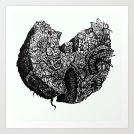 Wu-Tang Ain't Nuthin to F' Wit - B&W Art Print