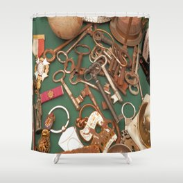 old keys Shower Curtain