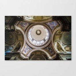 Pantheon Ceiling, Paris, France Canvas Print