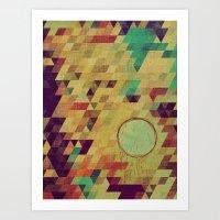 luna Art Prints featuring luna by Laura Moctezuma