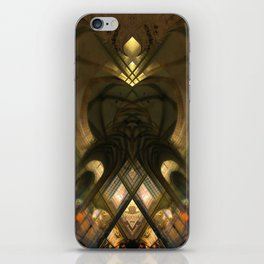 Cathedral of St. Michael and St. Gudula in Belgium brussels rorschach symmetry caleidoscope mirror  iPhone Skin