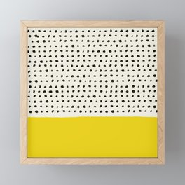 Sunshine x Dots Framed Mini Art Print