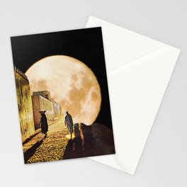 Walking at the moonlight Stationery Cards