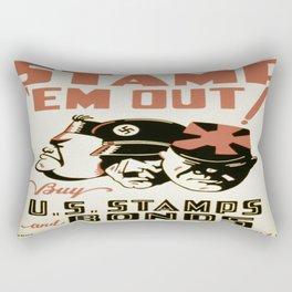 Vintage poster - Stamp 'Em Out Rectangular Pillow