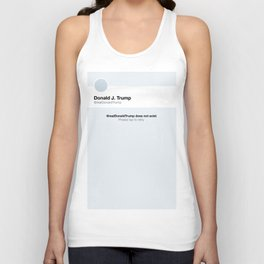 World Peace: Donald Trump Does Not Exist Unisex Tank Top
