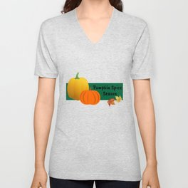 Pumpkin Spice Season Unisex V-Neck