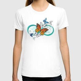 Infinity with an Orange Butterfly T-shirt