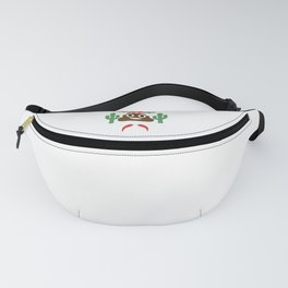Cinco De Mayo Poop Emoji With Cactus Peppers Funny Cool Design Fanny Pack