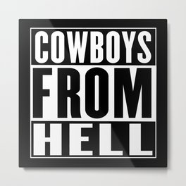 Cowboys from Hell Metal Print