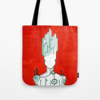 malachite Tote Bags featuring Malachite by Cynical Woman