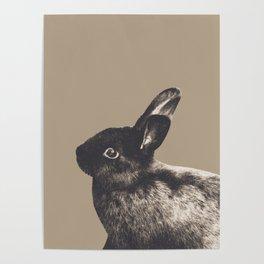 Little Rabbit on Sepia #1 #decor #art #society6 Poster
