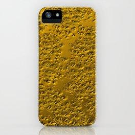 Damaged gold iPhone Case