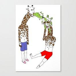 giraffe boyz Canvas Print
