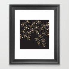 Dark Blossoms Framed Art Print