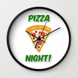Our Pizza Night (in Green) Wall Clock