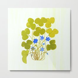 The blue and the green Metal Print