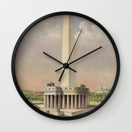 Currier & Ives. - Print c.1885 - The National Washington Monument Wall Clock