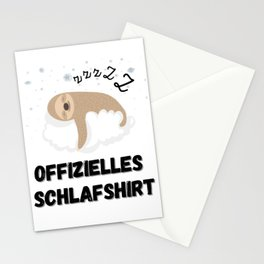 Official Sleeping Shirt Sloth Stationery Cards