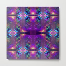 Colourful magic, fractal pattern abstract Metal Print
