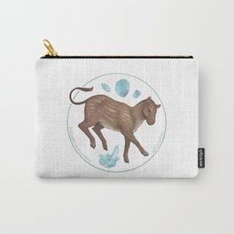Eohippus angustidens with aquamarine Carry-All Pouch