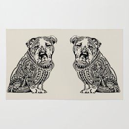 Polynesian English Bulldog Rug