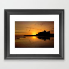 Bamburgh Castle Sunrise Framed Art Print