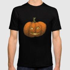 2016 Halloween Pumpkin Black MEDIUM Mens Fitted Tee