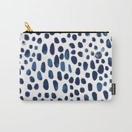 Blue Watercolour Spots Carry-All Pouch