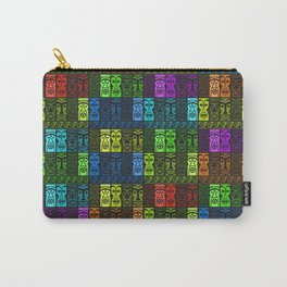 Tikis in a Rainbow of Colors! Carry-All Pouch
