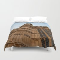 downton abbey Duvet Covers featuring Abbey Wall by Chalene Malekoff