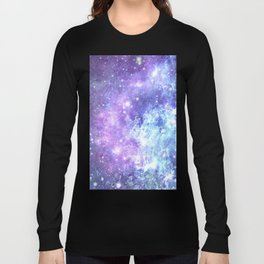 Grunge Galaxy Lavender Periwinkle Blue Long Sleeve T-shirt