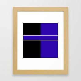 Team Colors 6...Blue,black Framed Art Print