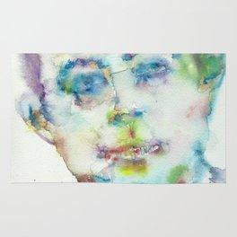 ANTOINE DE SAINT-EXUPERY - watercolor portrait.2 Rug