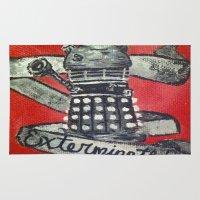 dalek Area & Throw Rugs featuring Dalek by AntiPosi