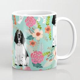 English Springer Spaniel dog breed florals dog gifts for dog lovers dog breeds Coffee Mug