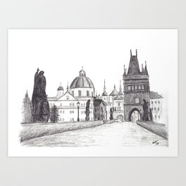 Charles Bridge in Prague, Czech Republic Art Print