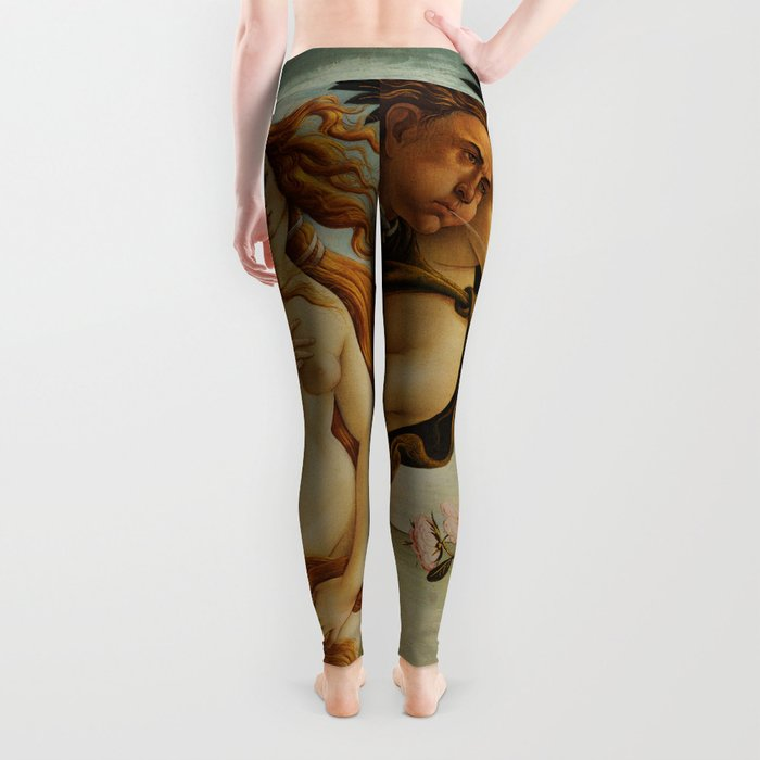 The Birth of Venus by Sandro Botticelli Leggings