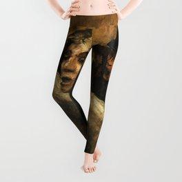 """Honoré Daumier """"The Uprising (L'Emeute)"""" Leggings"""