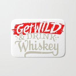 Get Wild & Drink Whiskey Bath Mat