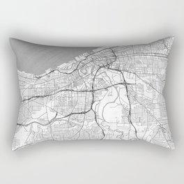Cleveland Map Line Rectangular Pillow