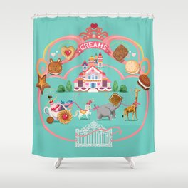 Cookies and Cream, Biscuits and Tea. Shower Curtain