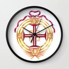 Templar cross. Cruz Templária Wall Clock