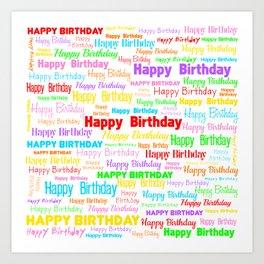 Happy Birthday! 1 Art Print