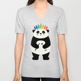 Be Brave Panda Unisex V-Neck