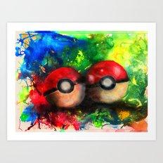 pokeball Art Print