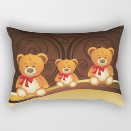 Teddy bear with red bow Rectangular Pillow