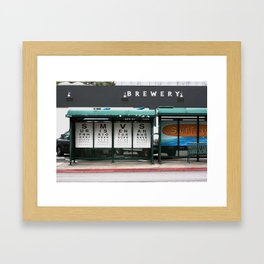 Vista Bus Stop Framed Art Print
