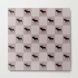 moose cool home pattern Metal Print