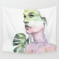 agnes Wall Tapestries featuring viridescent by agnes-cecile